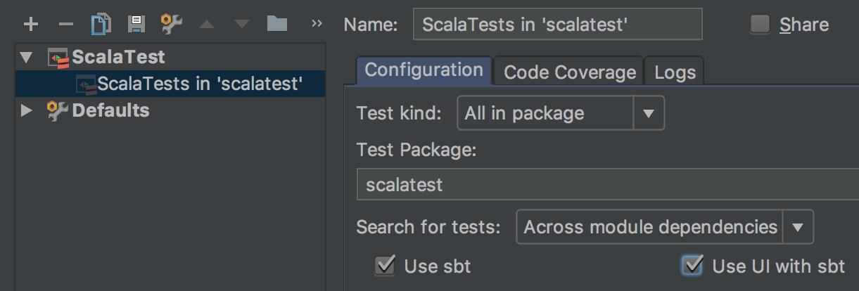 Test Settings