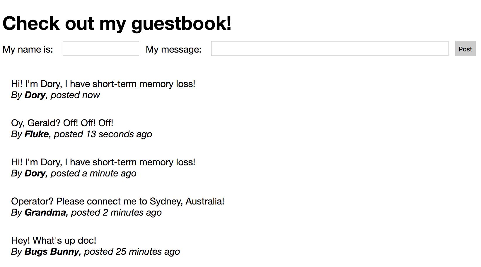 Guest Book App
