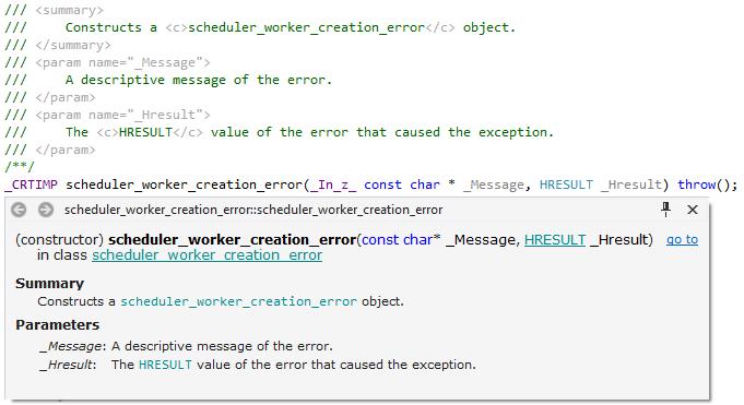 XML documentation