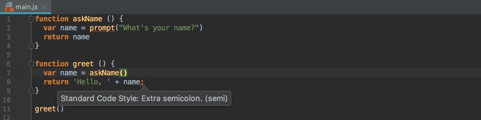 error-from-standard