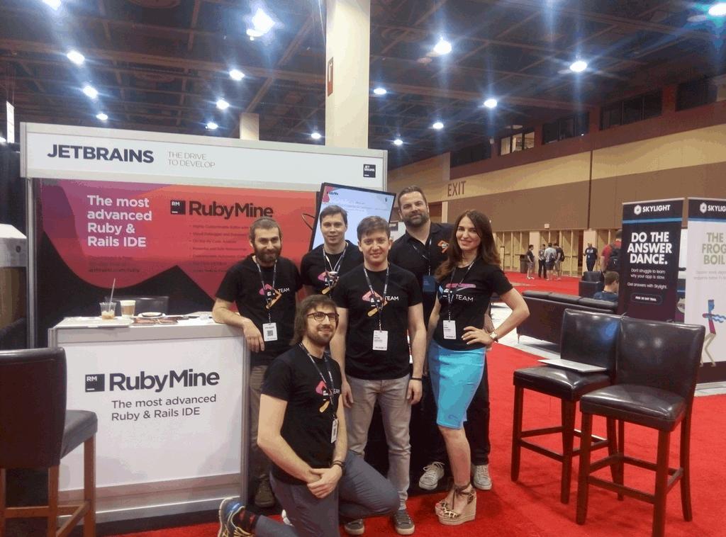 RubyMine team at RailsConf