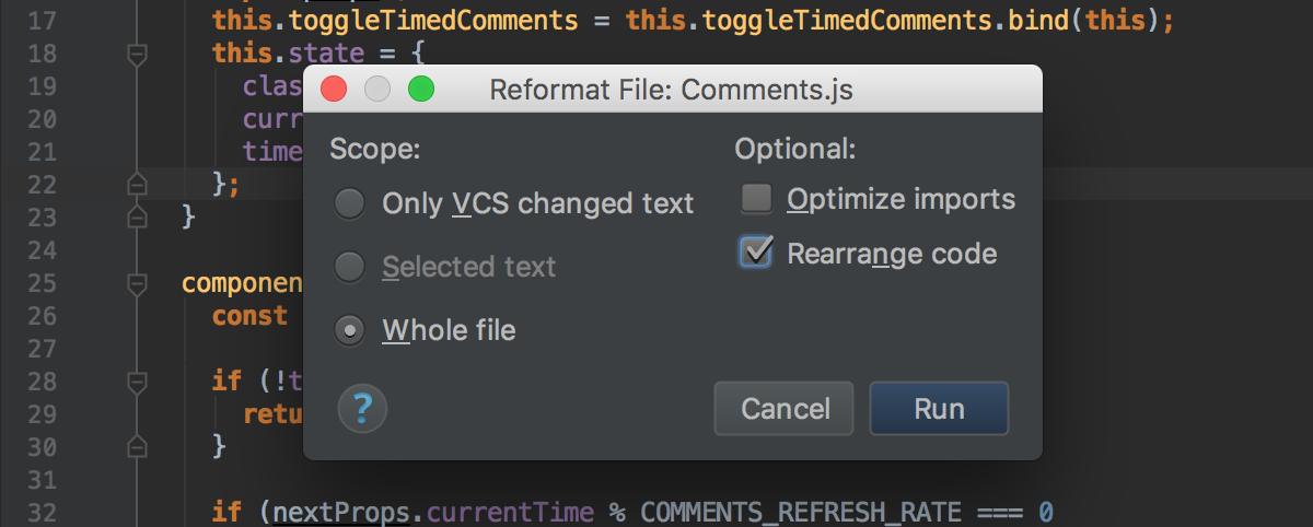 reformat-enable-rearrange