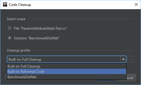 Code Cleanup