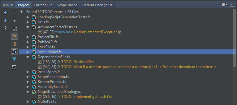 To-do Explorer supports F#