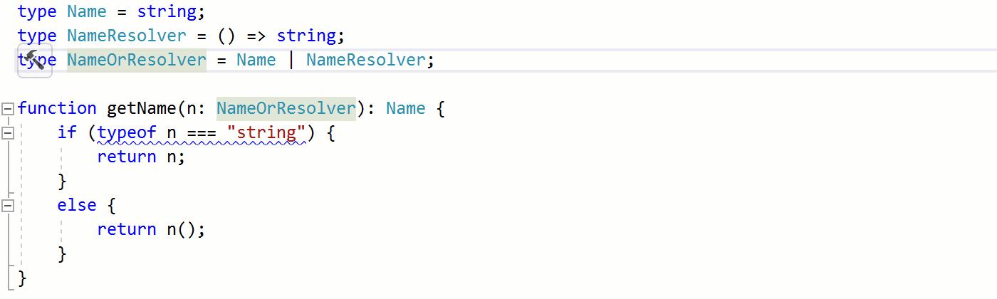 TypeScript - Inline type alias