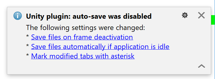 Unity plugin helps disable auto-save in Rider