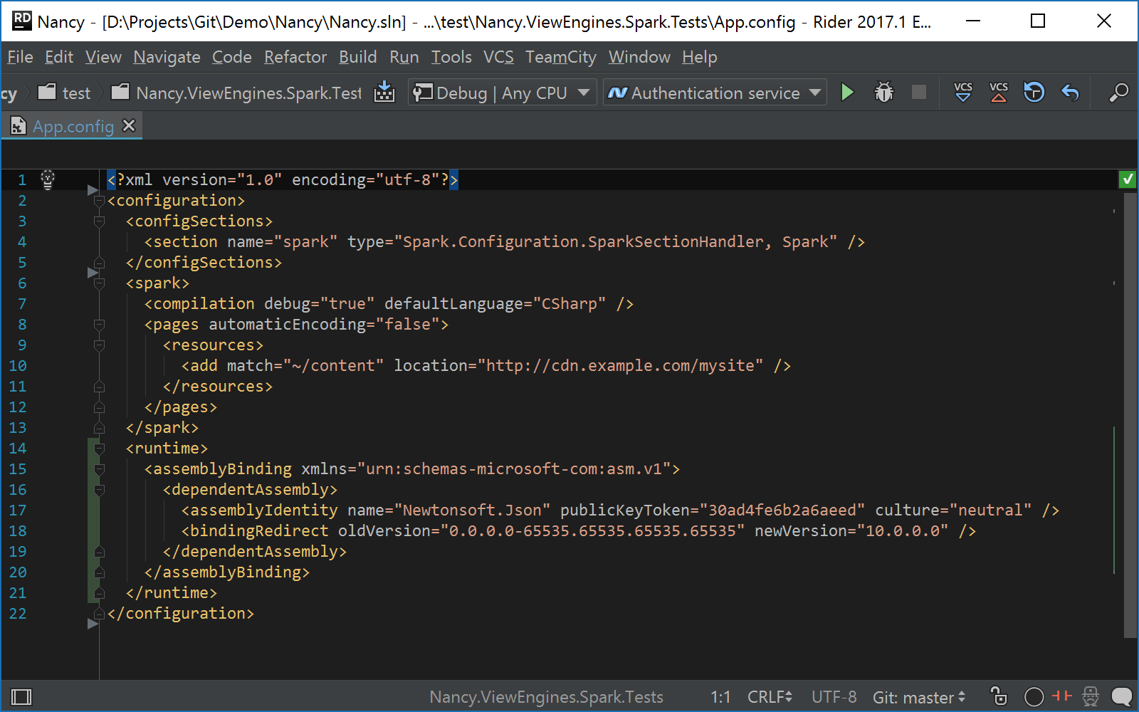 Navigation in config files and MSBuild