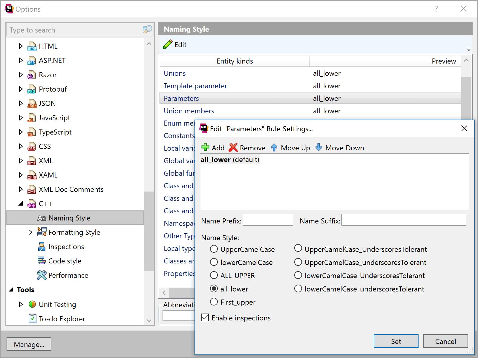 Naming Styles in ReSharper C++