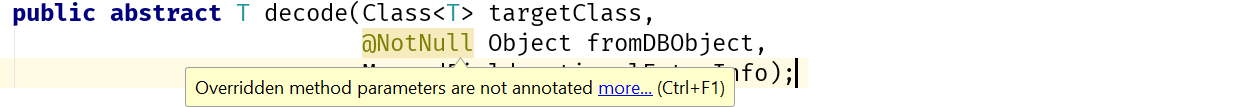 Overridden parameters are not annotated
