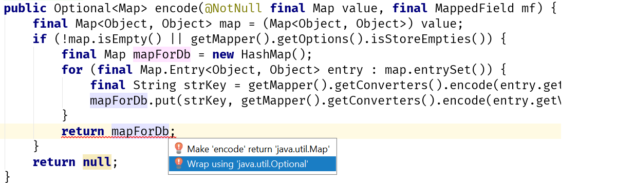Wrap value in Optional