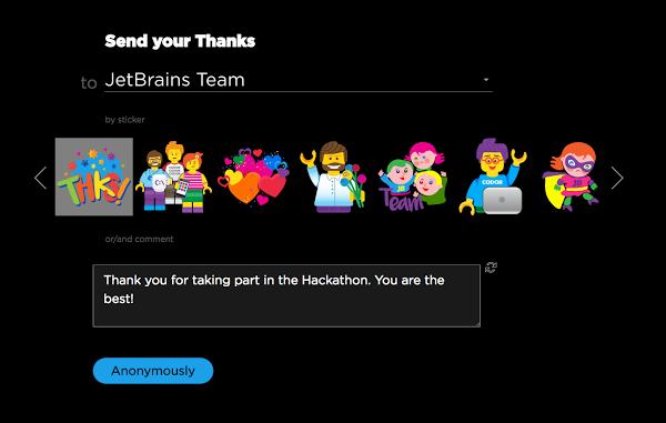 thank you interface