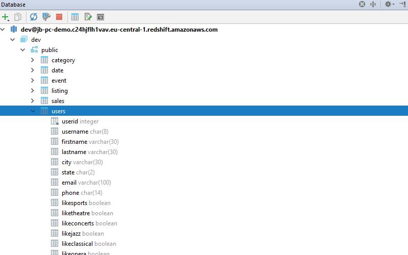 Database Tool Window