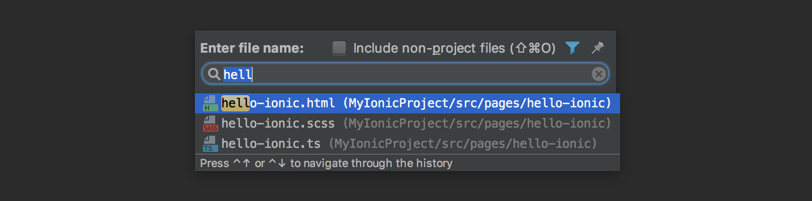 ionic-go-to-file