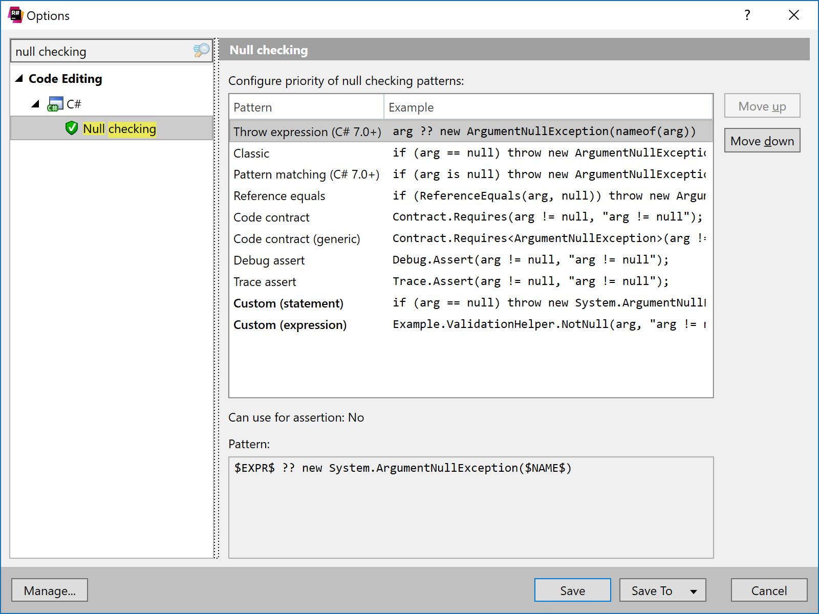 ReSharper preferences for null checking