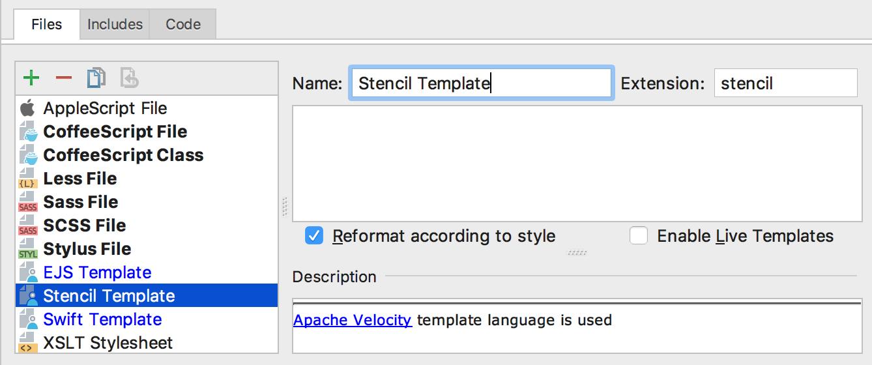 Custom File Templates
