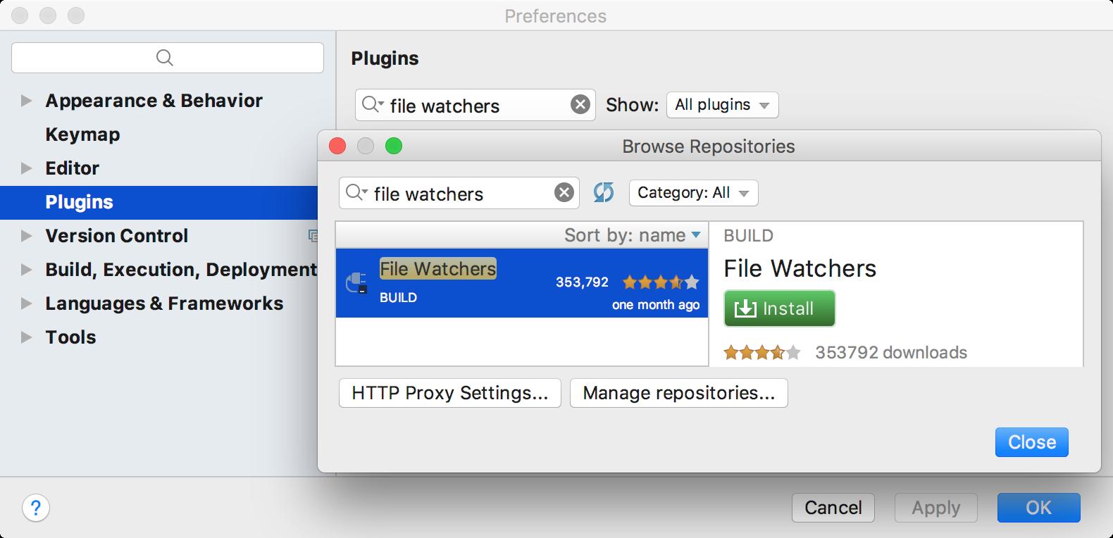 File Watchers plugin