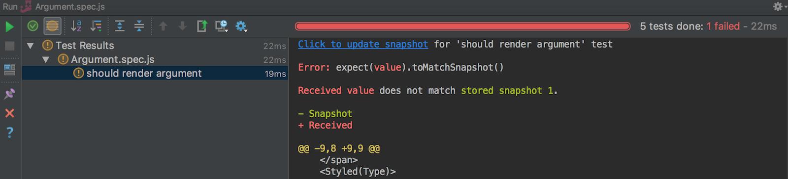 update-snapshot-jest