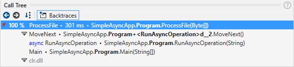 Async calls. Backtraces