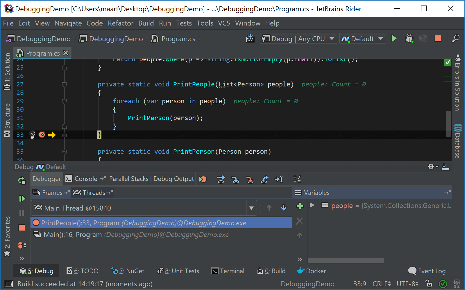 Drag Rider debugger execution pointer to set next statement