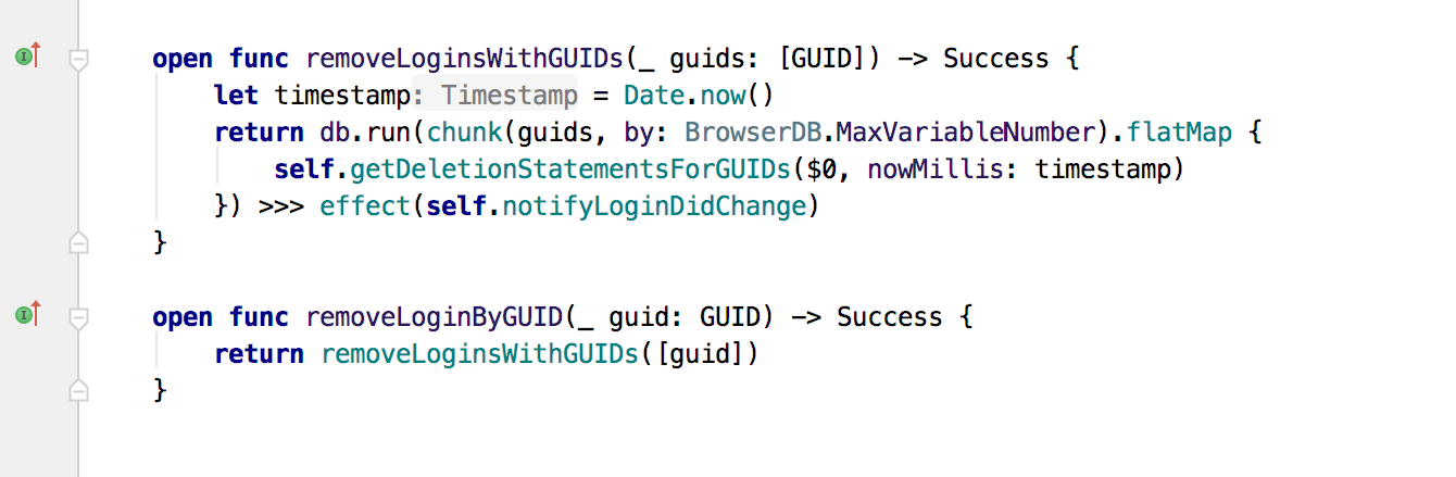 Colors for declarations and calls