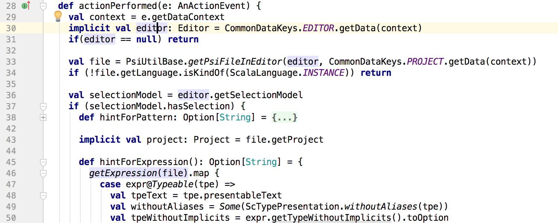 Implicit usages highlighting in IntelliJ IDEA