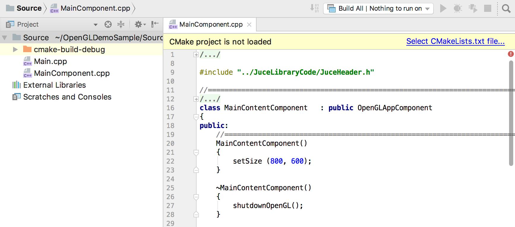 no_cmake_project