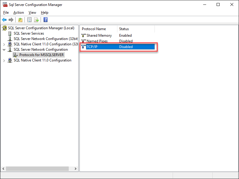 SQL Server Configuration Manage