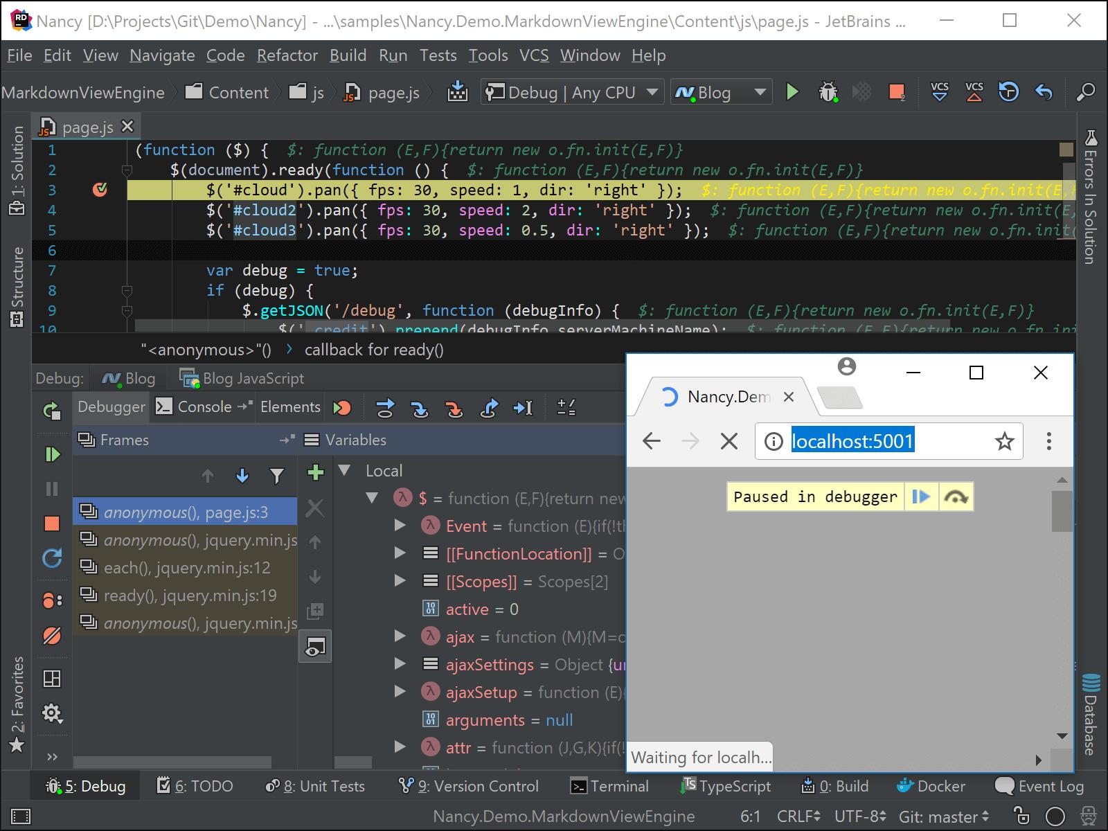 Live Edit makes Rider the JavaScript Debugger