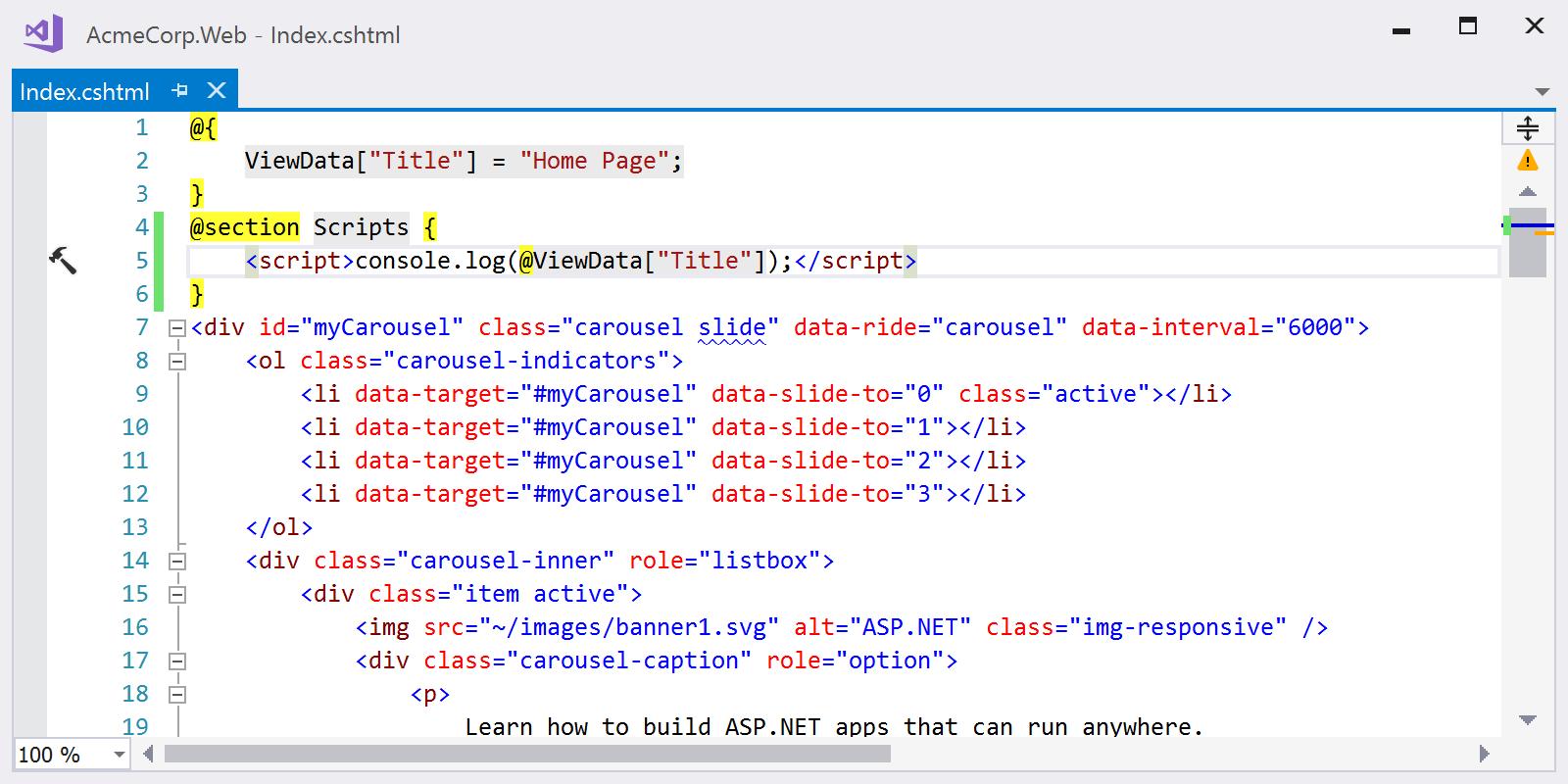 Using Reformat Code to apply Razor code style