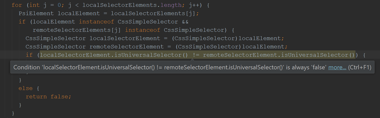 localSelectorElement.isUniversalSelector() != remoteSelectorElement.isUniversalSelector()