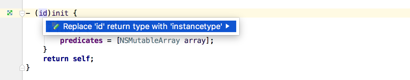 Replace id with instancetype