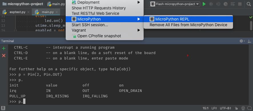 MicroPython REPL