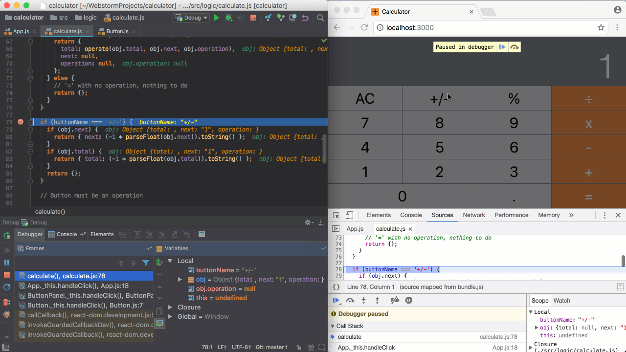 Debugging with Webstorm and Chrome at the same time