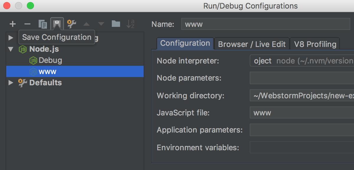 save-temp-configuration