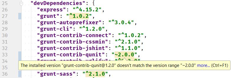 EAP 7 - JS Package JSON version check