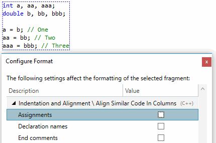Multiline formatting