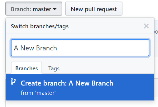 a new branch
