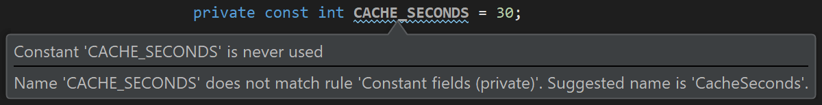 Consistent variable, property and constant casing throughout our codebase