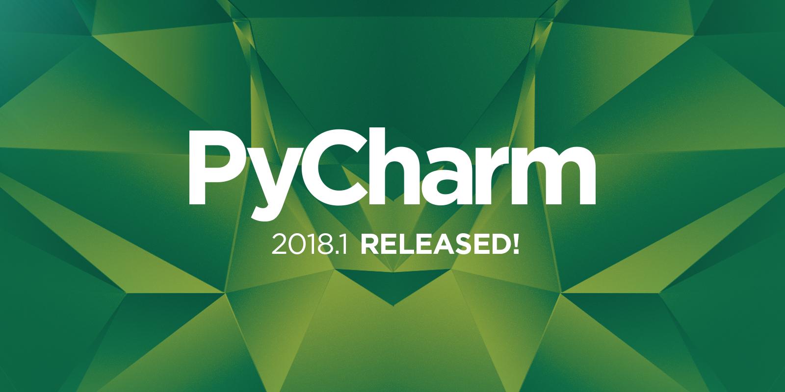 PyCharm 2018.1