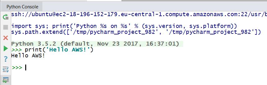 Remote Python Console