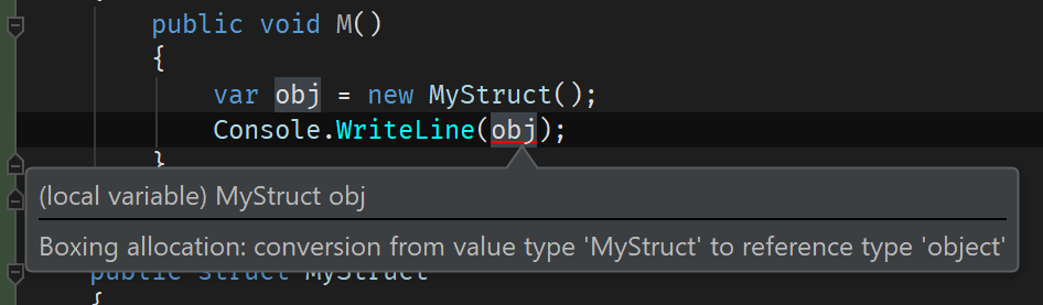 Boxing allocation when value type is converted to object