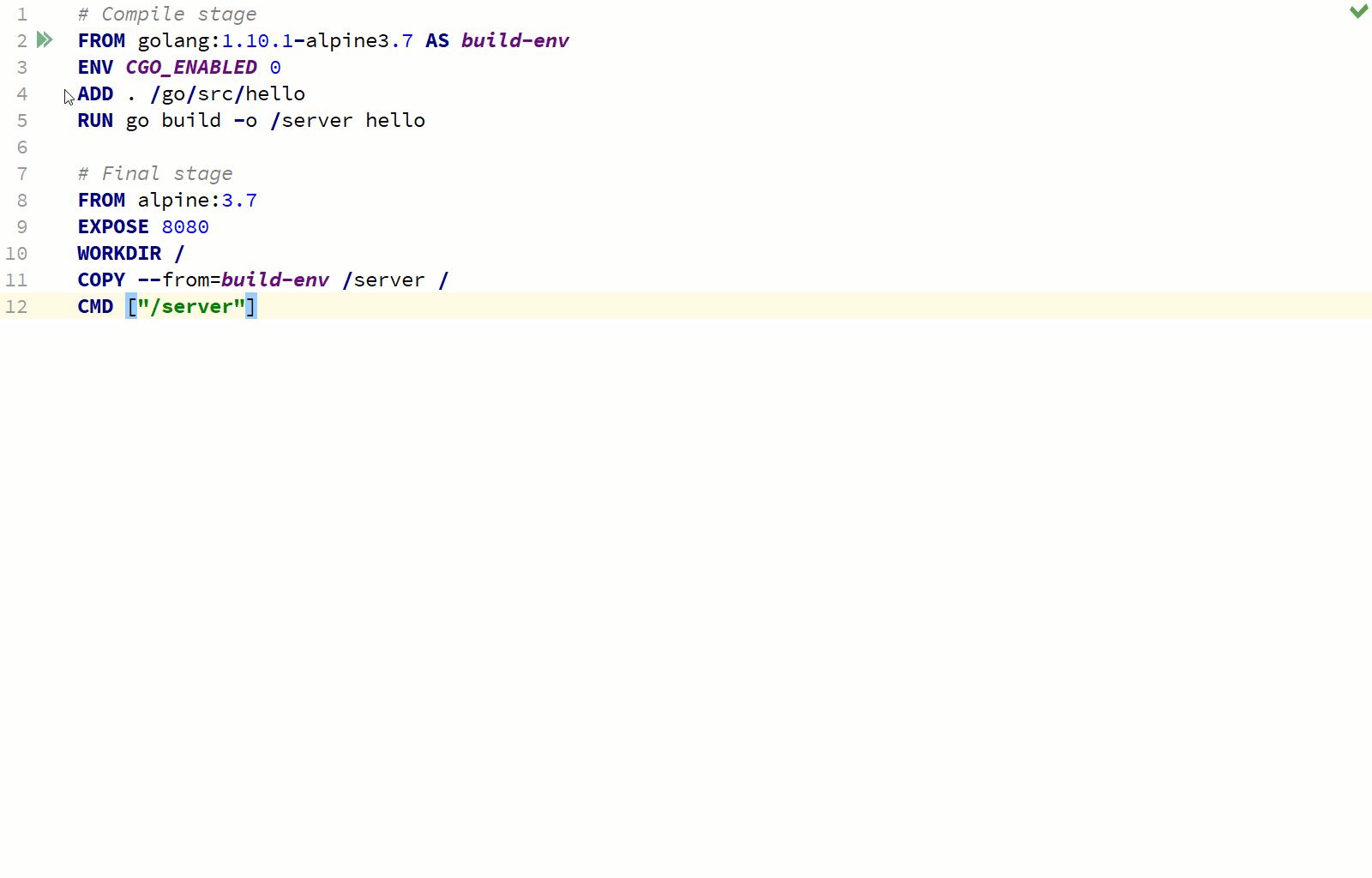 Debug Container - Run Application