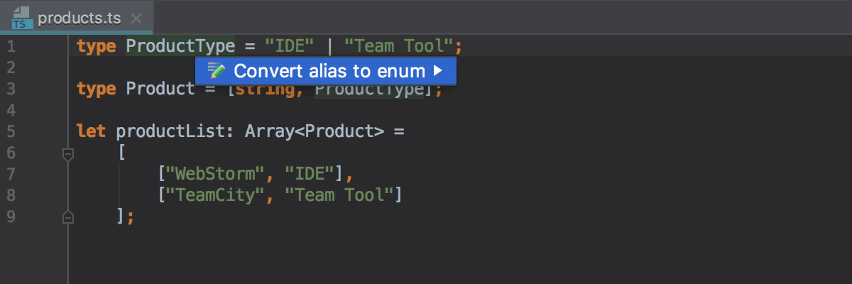 convert-type-alias-to-enum
