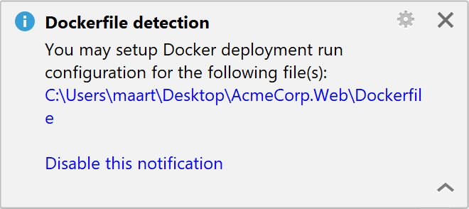 Dockerfile detection