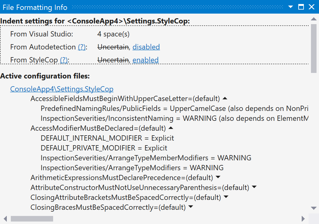 Overridden ReSharper settings sorted by StyleCop rules