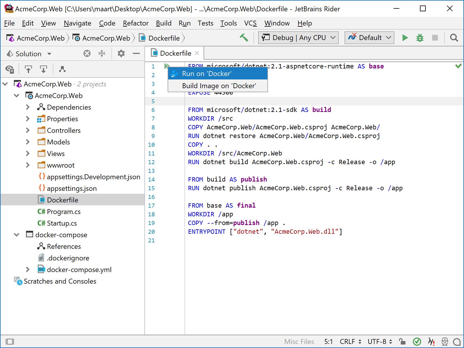 Run application in Docker