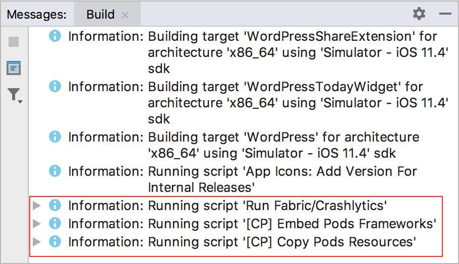 Run Script phases