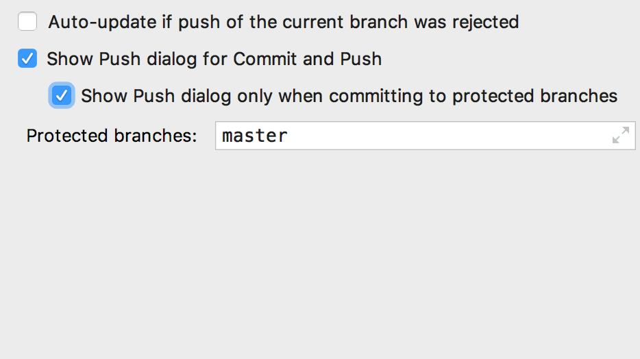 Show push dialog