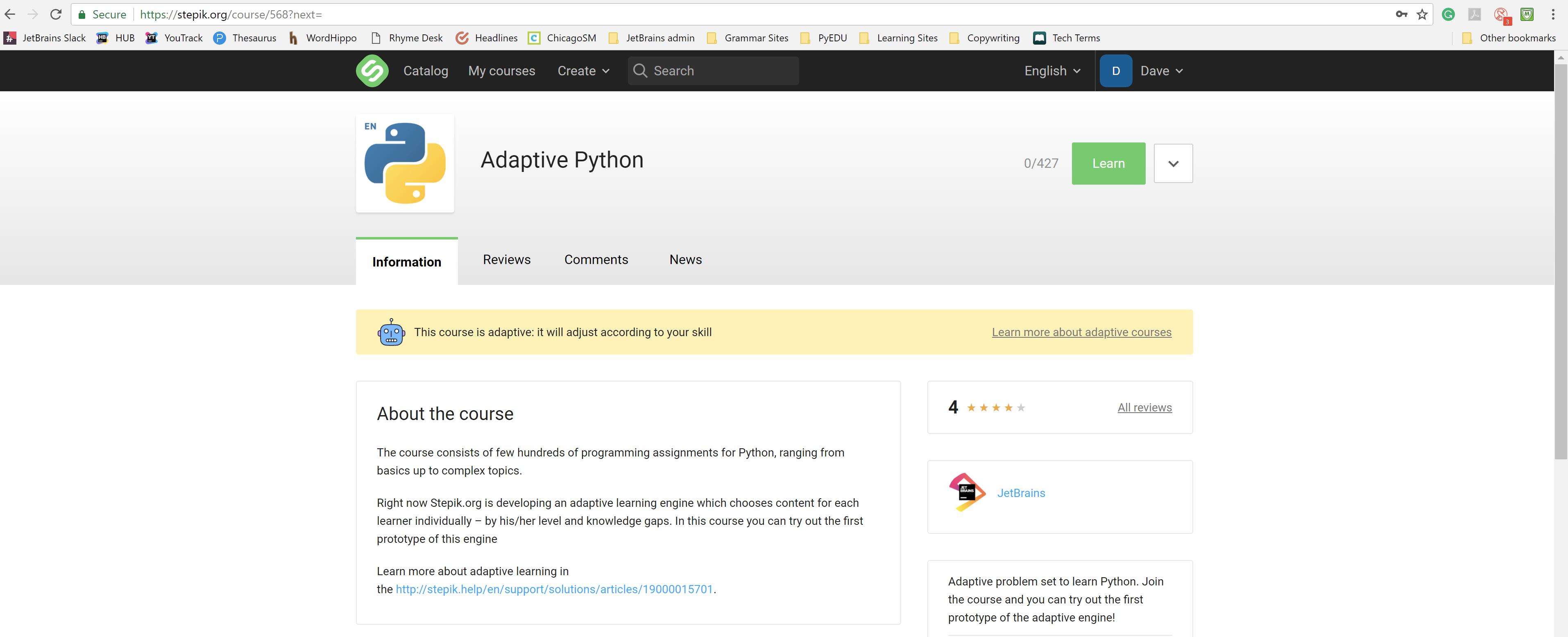 stepik adaptive python