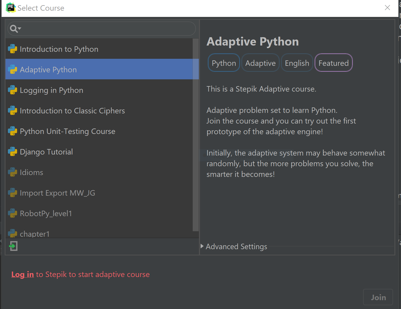 adaptive Python in the Edu